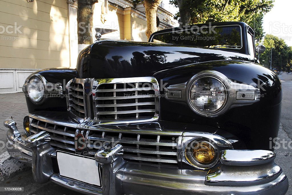 Old classic car stock photo