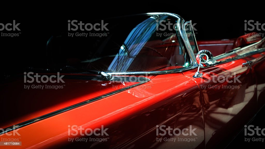 Old classic car. stock photo