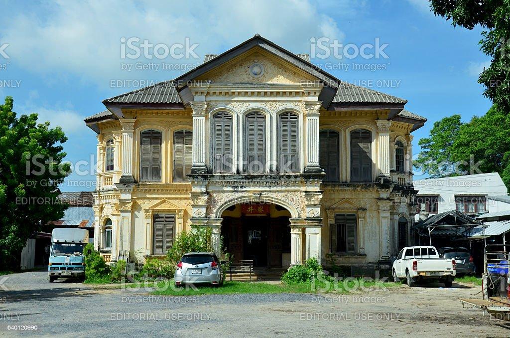 Old classic house style Sino-Portuguese architecture stock photo