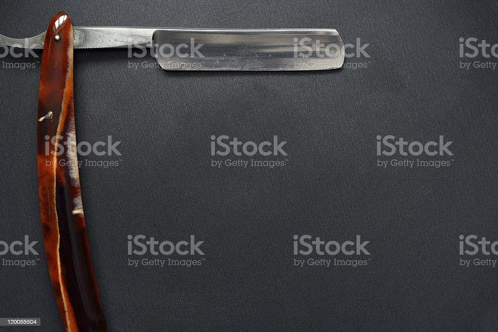 Old Classic Straight Razor stock photo