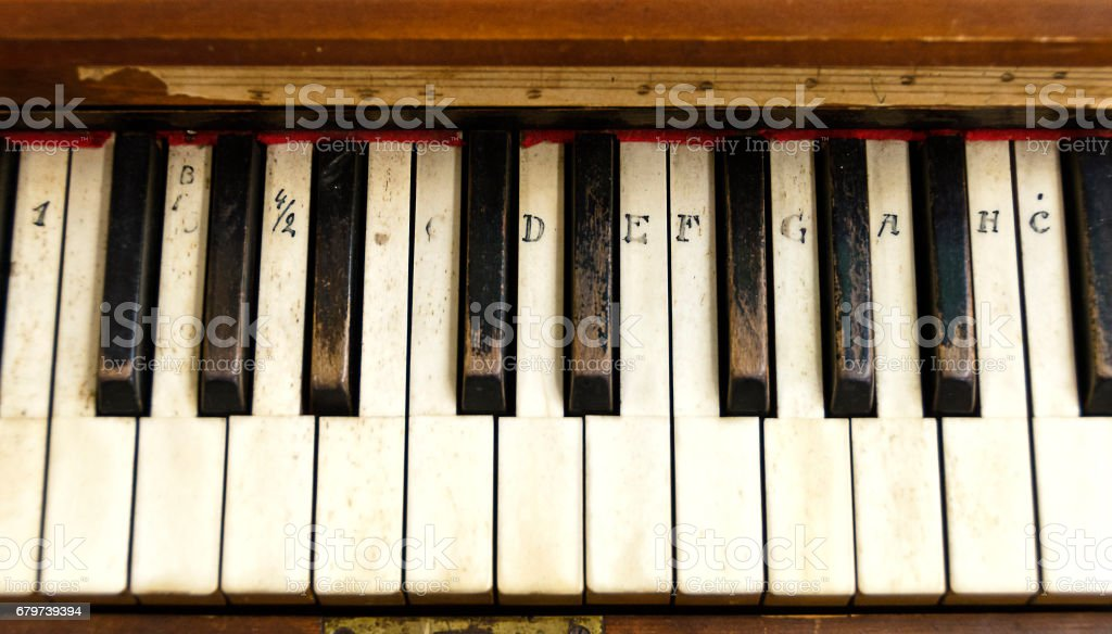 Old claviature stock photo