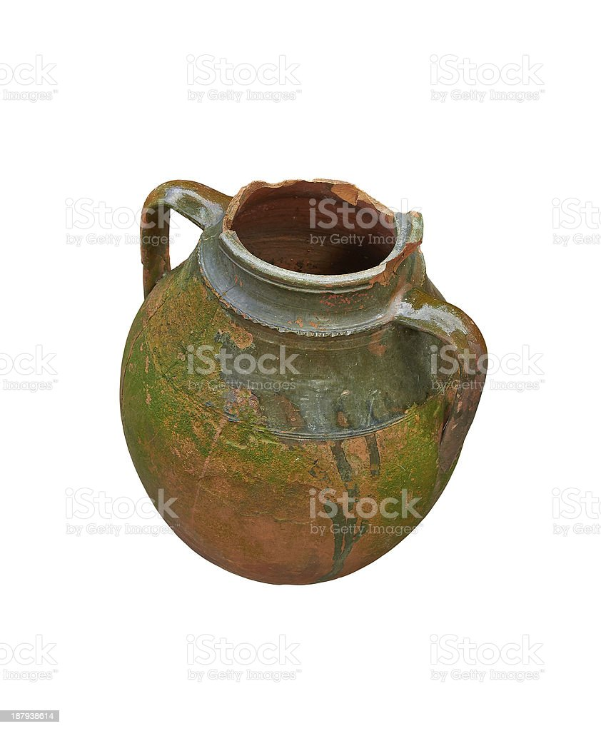 old clay amphora royalty-free stock photo