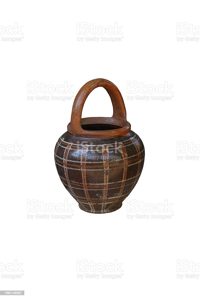 old clay pot royalty-free stock photo