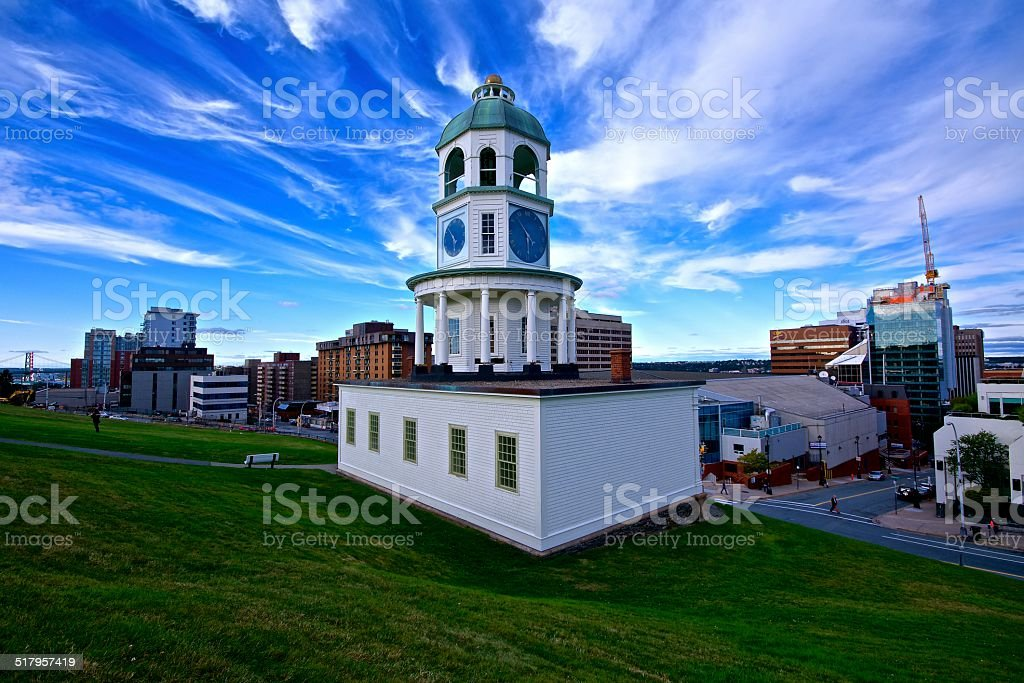 Old Clock building stock photo