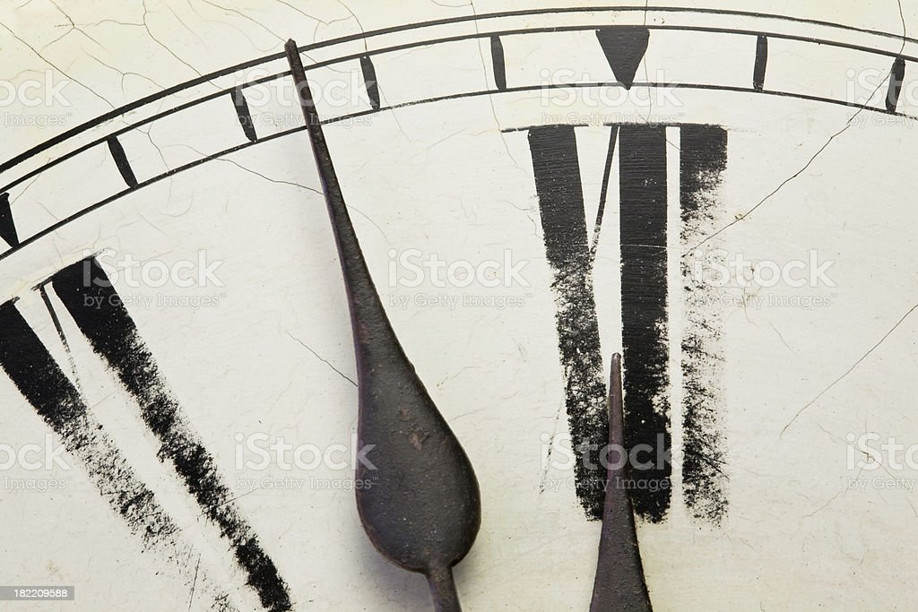 Old Clock Face II royalty-free stock photo