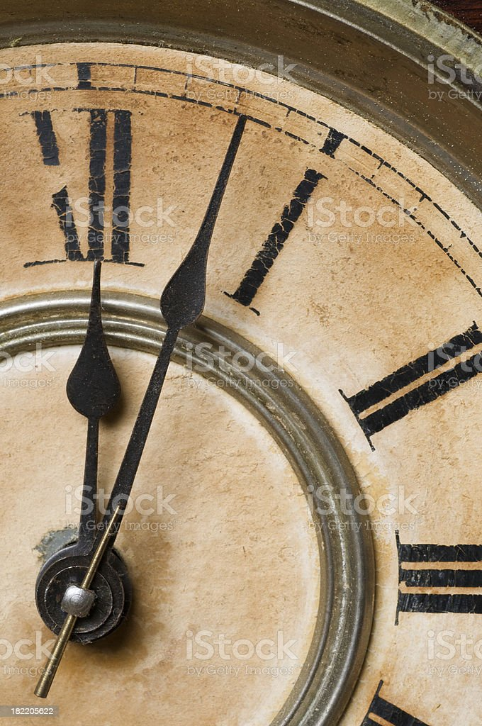 Old clock face royalty-free stock photo