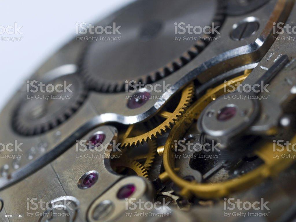 old clock gear macro royalty-free stock photo