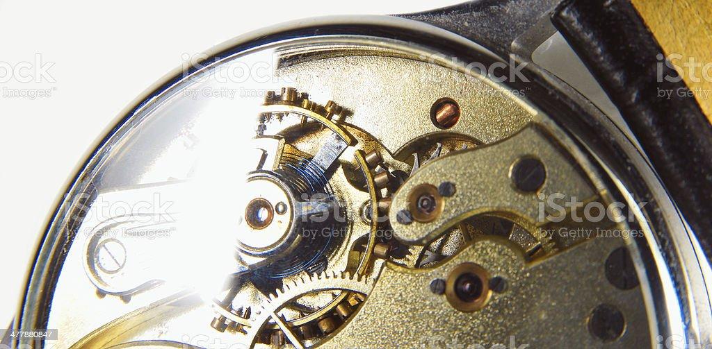 Old Clock Inside stock photo