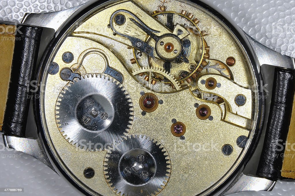 Old Clock Inside royalty-free stock photo