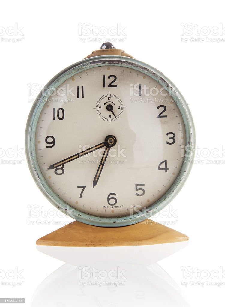 Old clock isolated royalty-free stock photo