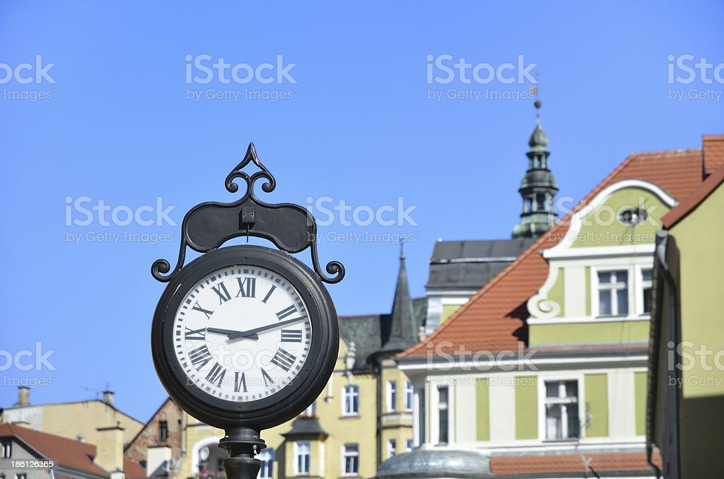 Old clock on the street royalty-free stock photo