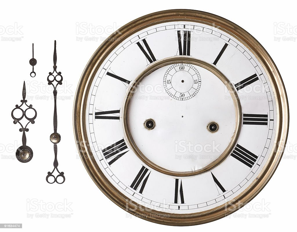 Old clock. royalty-free stock photo