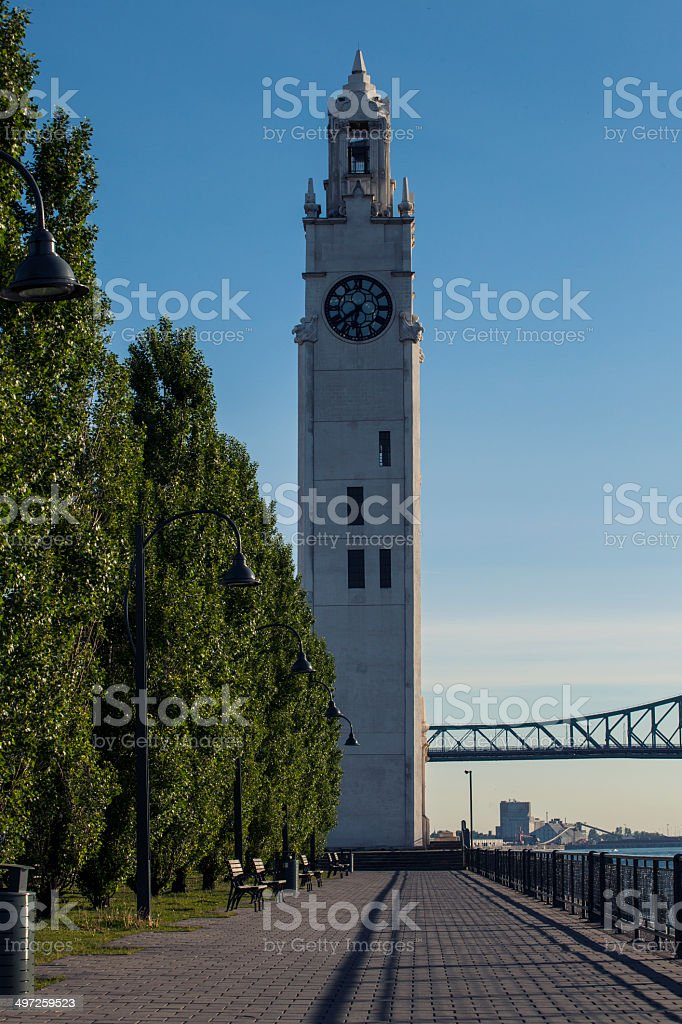 Old Clock Tower, Old Port, Montreal royalty-free stock photo