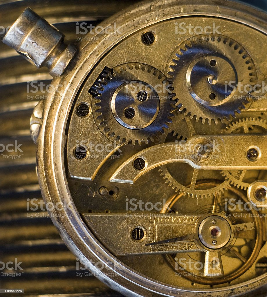 Old clockwork stock photo