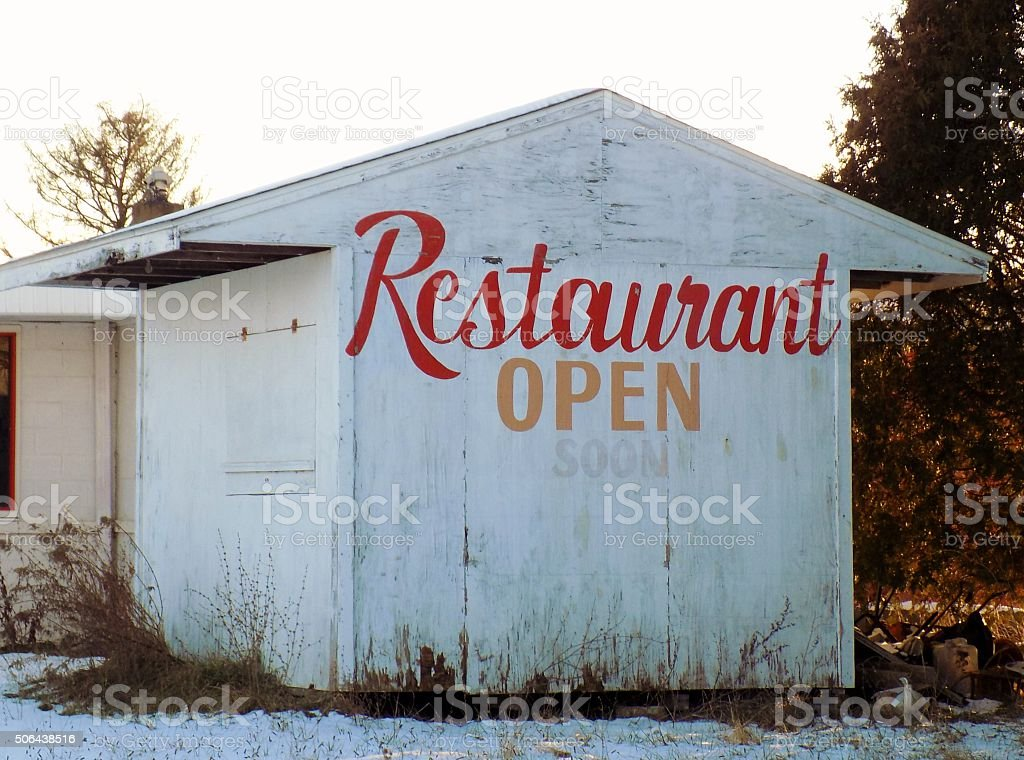 Old Closed Roadside Diner stock photo