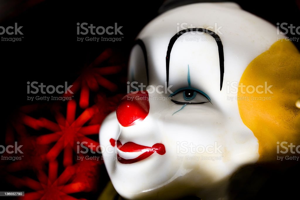 Old Clown Face royalty-free stock photo