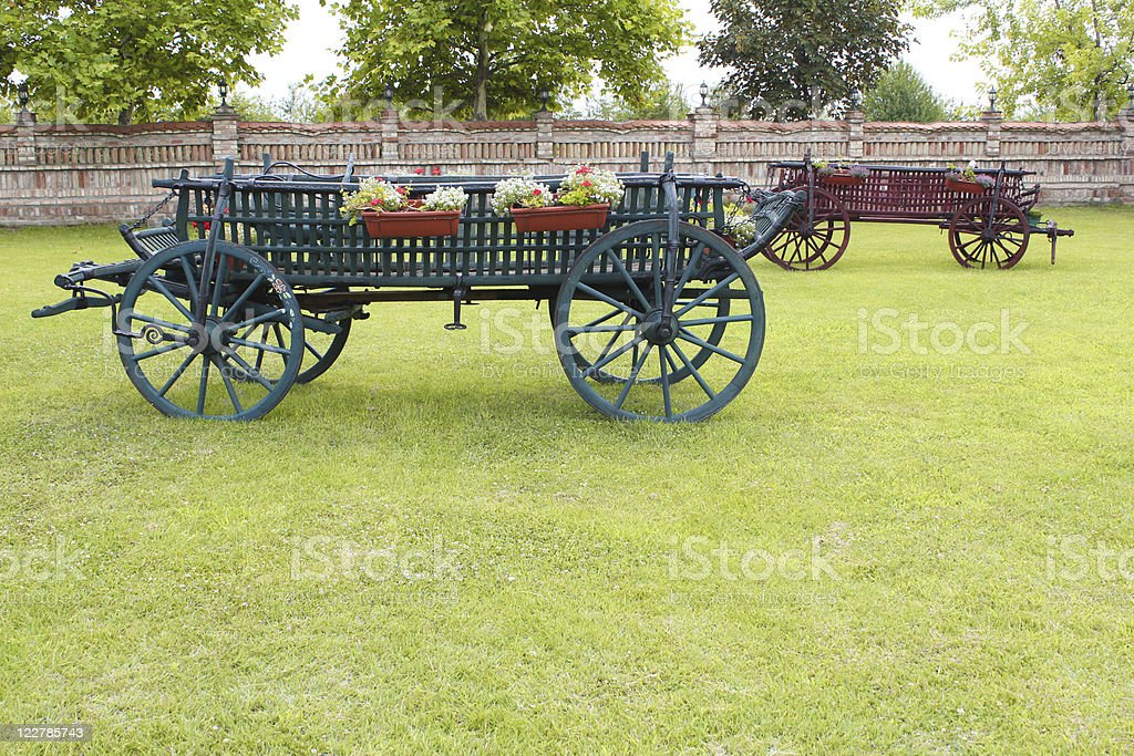 old coach vintage farm scene royalty-free stock photo