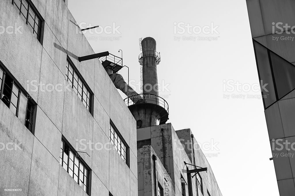 Old Coal-gas Factory in Beijing,China stock photo