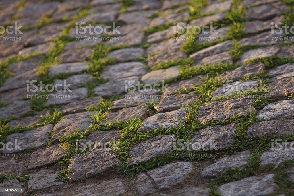 Old cobble road royalty-free stock photo