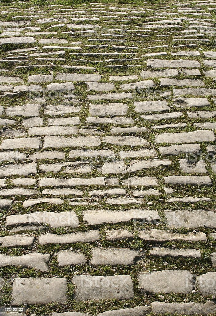 Old cobbled stone path royalty-free stock photo