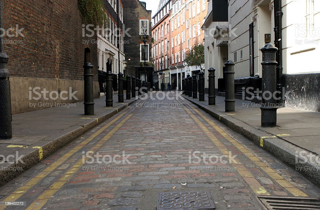 Old cobbled street stock photo