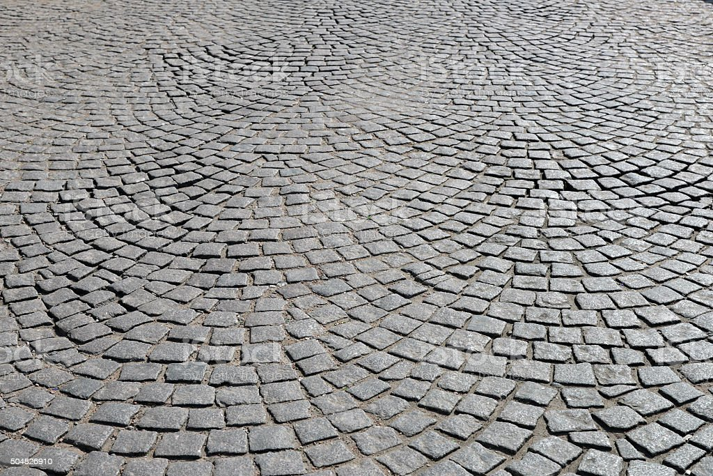 Old cobblestone pavement. stock photo