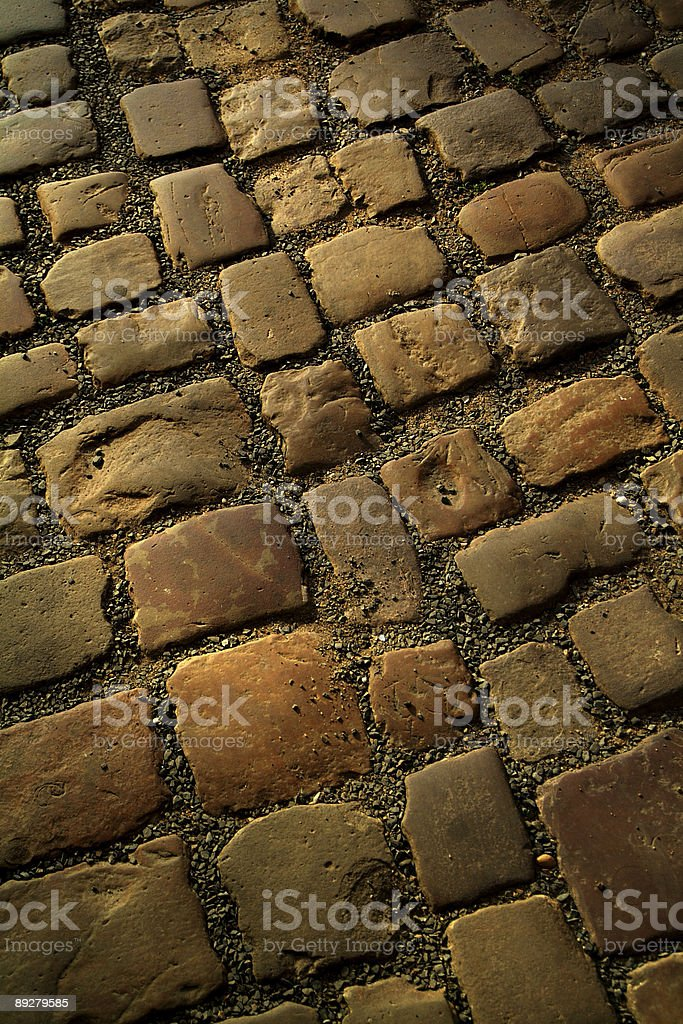 Old cobblestone pavement royalty-free stock photo