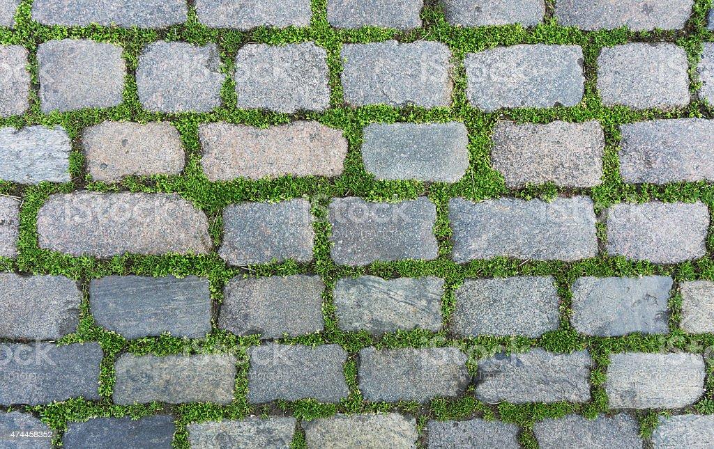 Old cobblestone stock photo