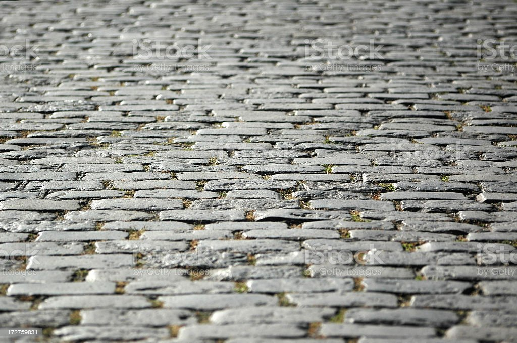 Old Cobblestone Road royalty-free stock photo