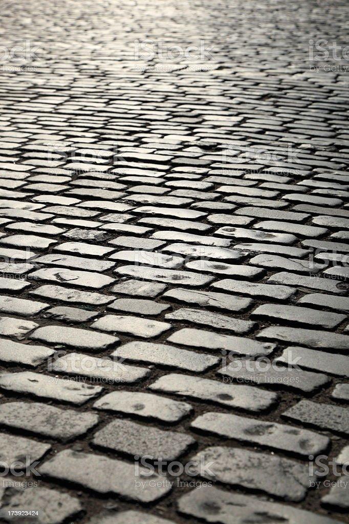 Old cobblestone road royalty-free stock photo