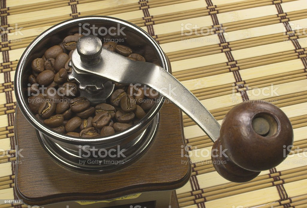 Old coffee grinder royalty-free stock photo
