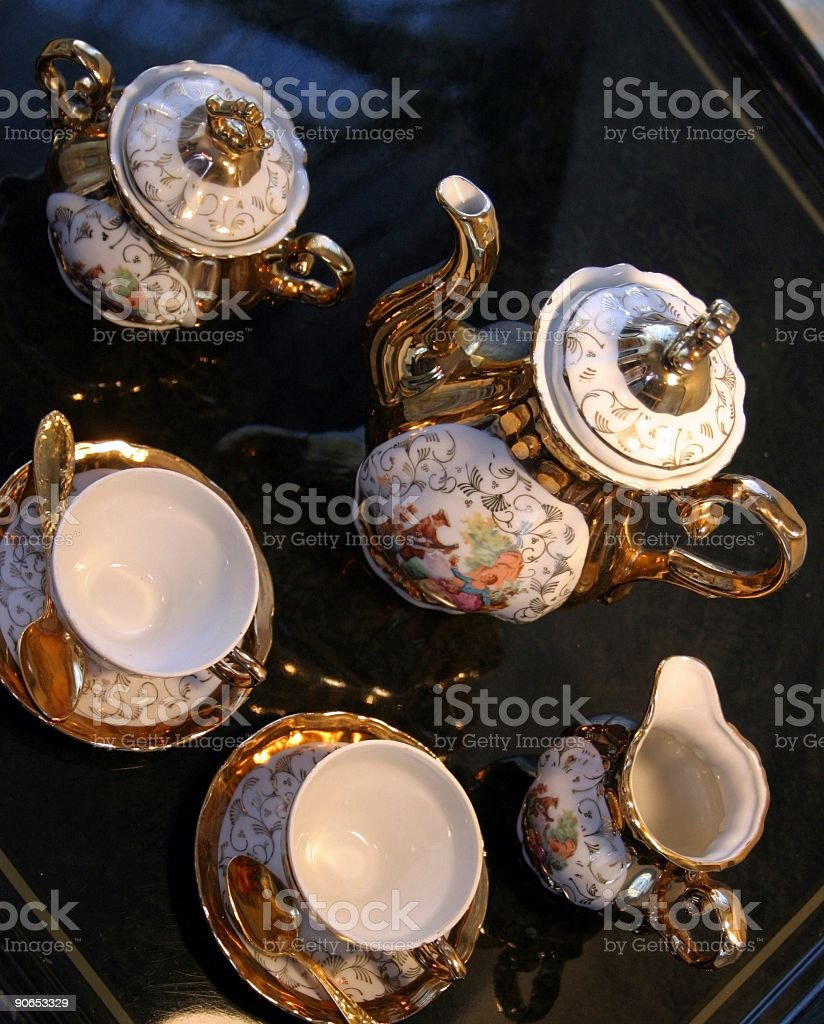old coffee service royalty-free stock photo