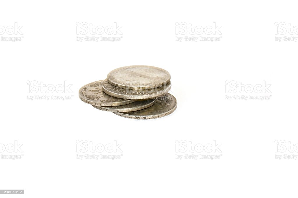 old coins of Russia stock photo