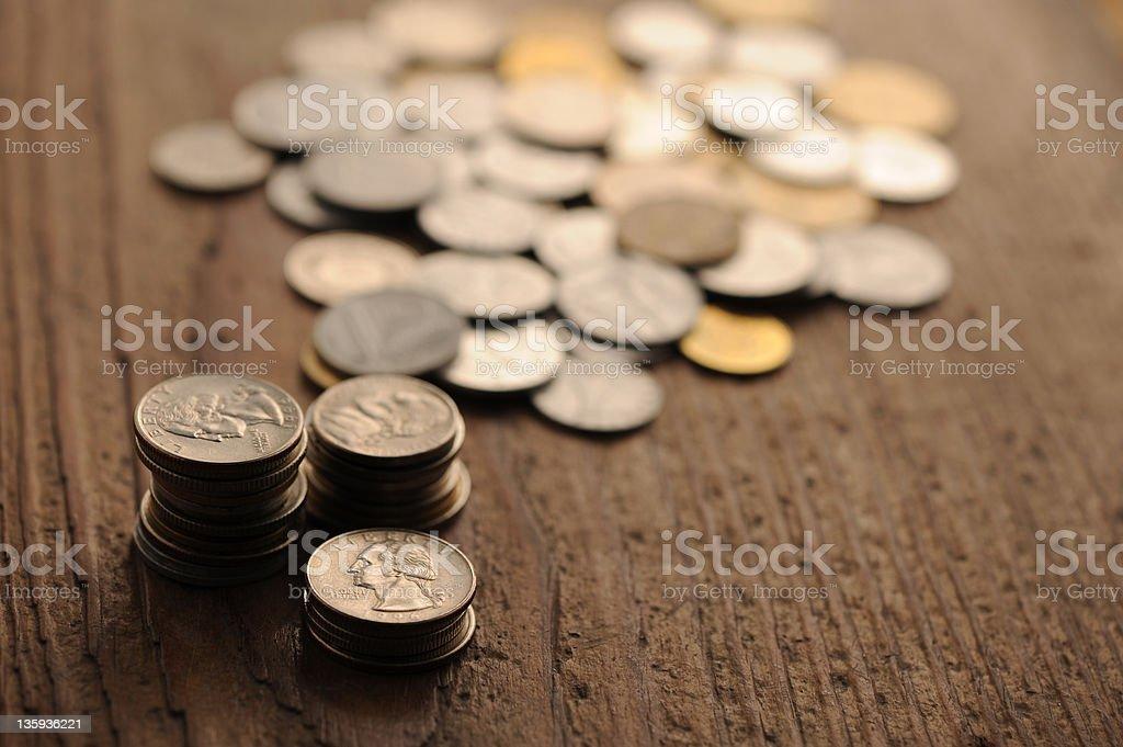 old pièces de monnaie photo libre de droits