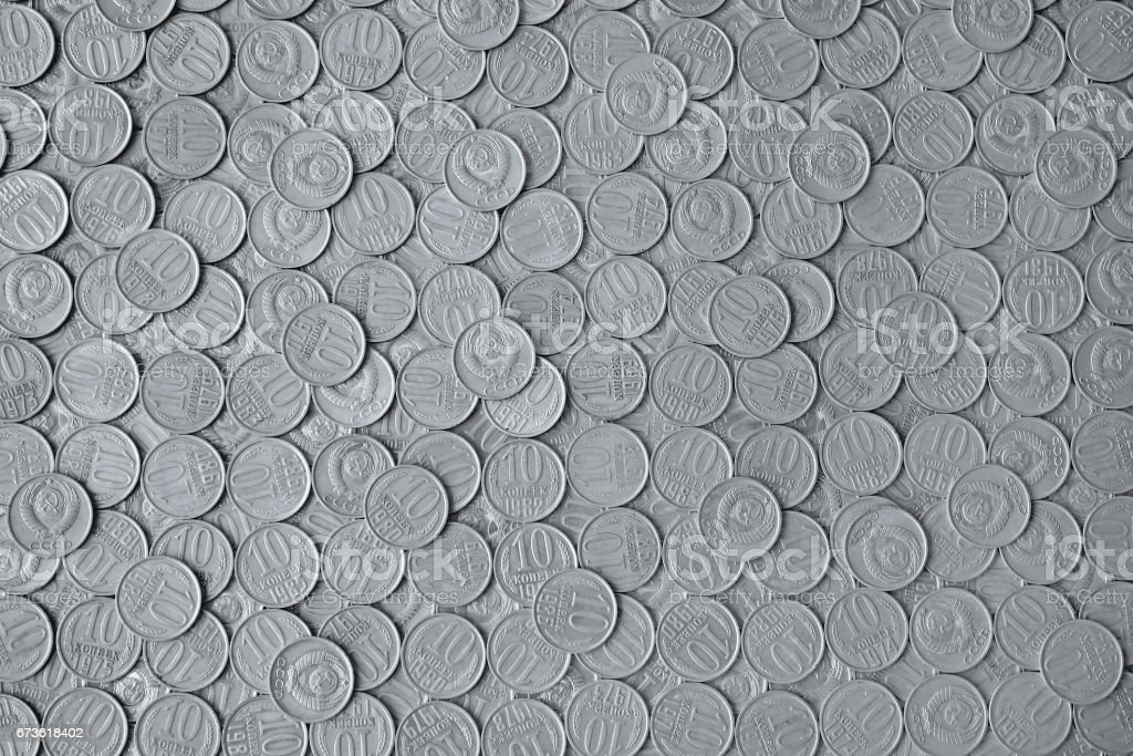 old coins USSR as background stock photo