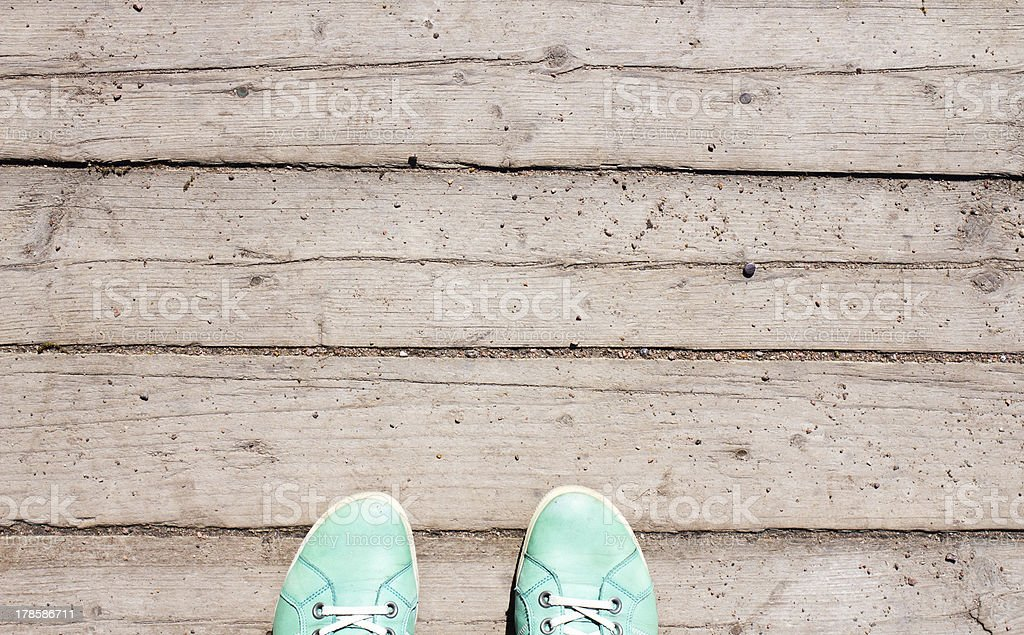Old color peel antique wood texture for web background royalty-free stock photo