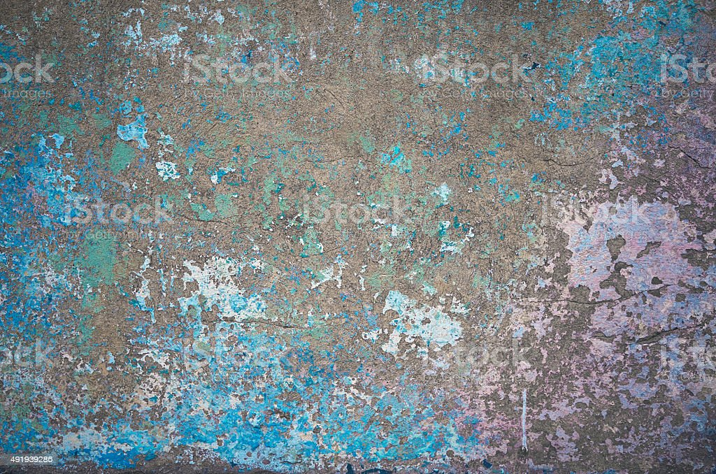 Old color wall painted background stock photo