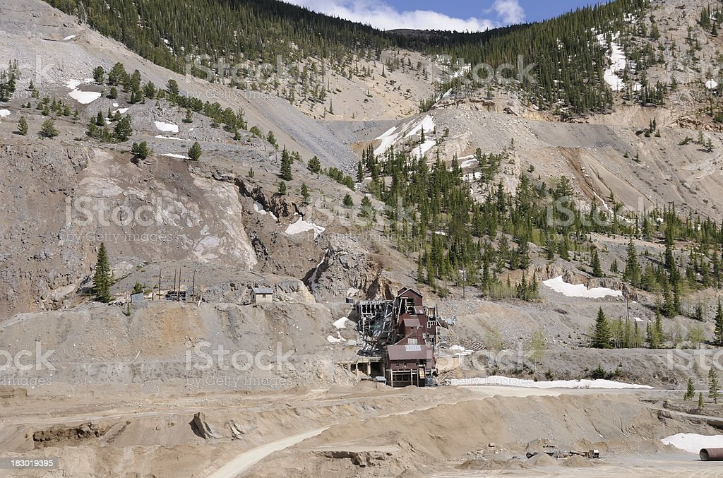 Old Colorado Mine royalty-free stock photo