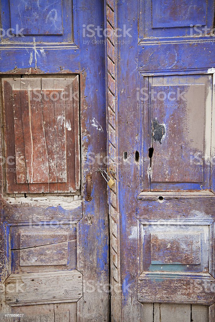 Old colored door royalty-free stock photo