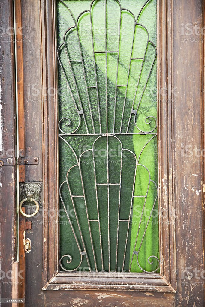 Old colored door stock photo
