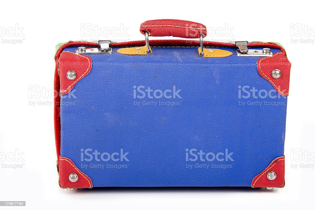 Old colorful case for a child XXXL royalty-free stock photo