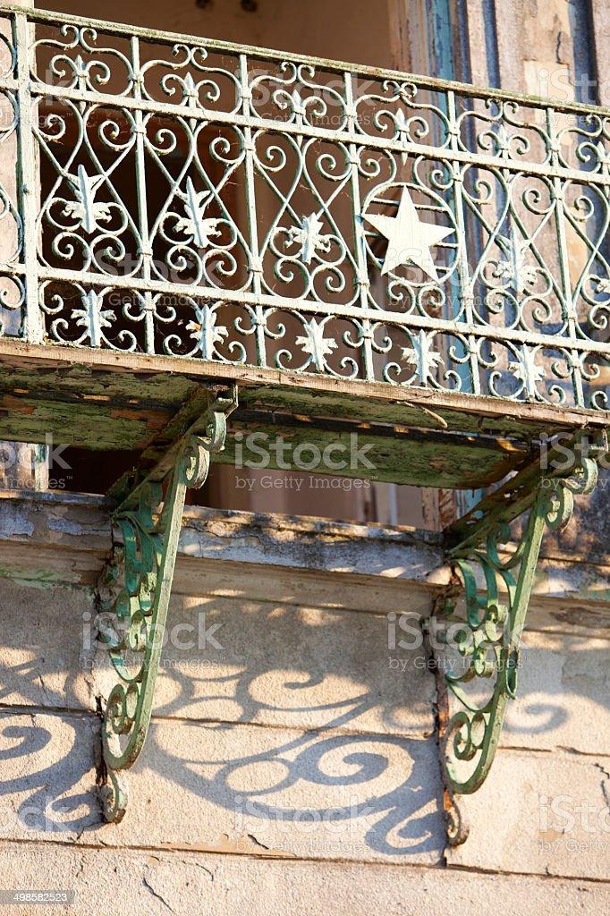 Old communist balcony stock photo