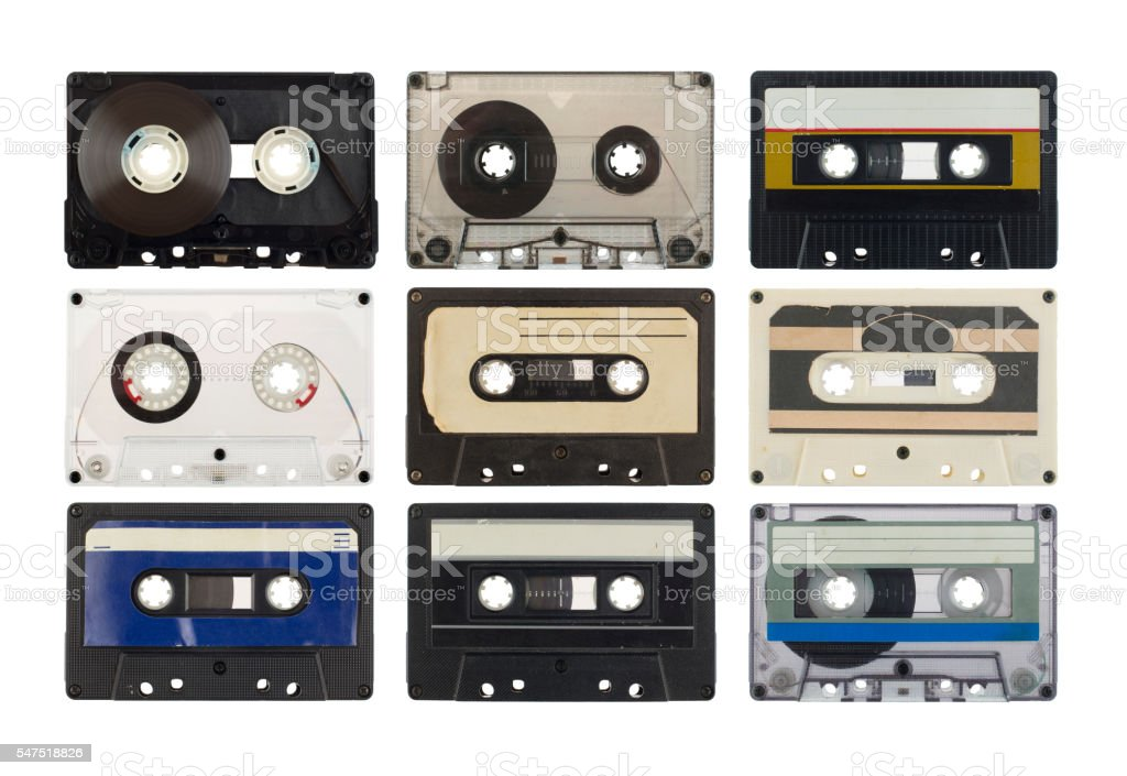 Old compact cassette stock photo