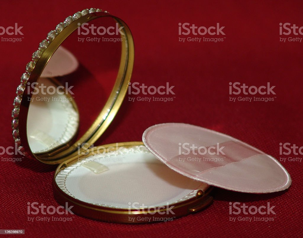 Old Compact royalty-free stock photo