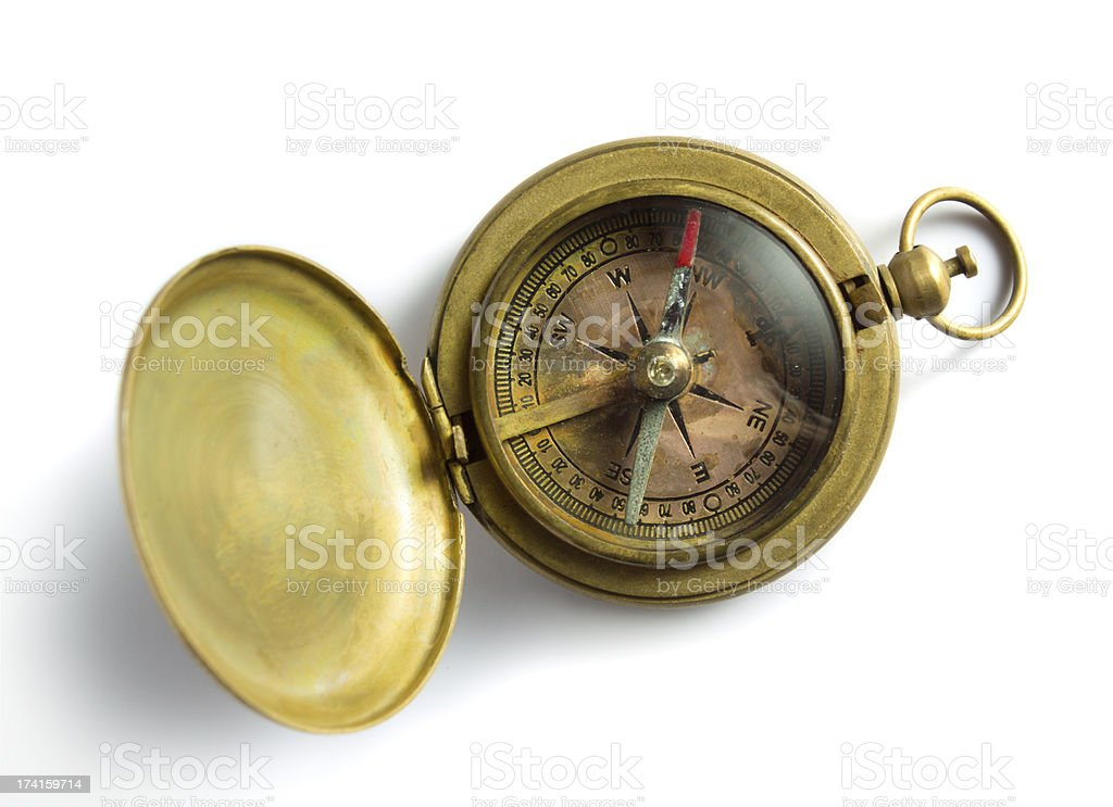 Old compass royalty-free stock photo