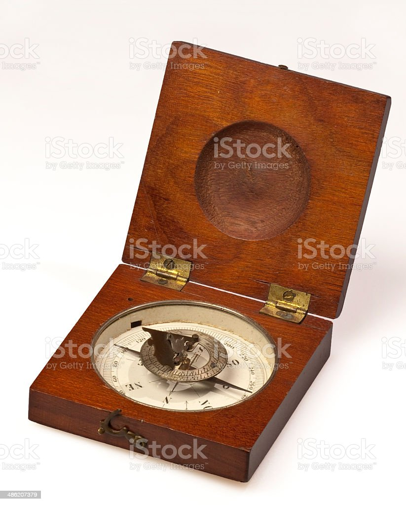 Old compass bis royalty-free stock photo