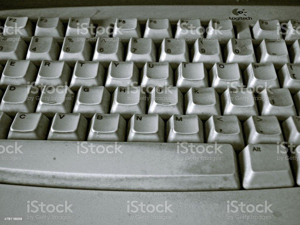 Old Computer Keyboard stock photo