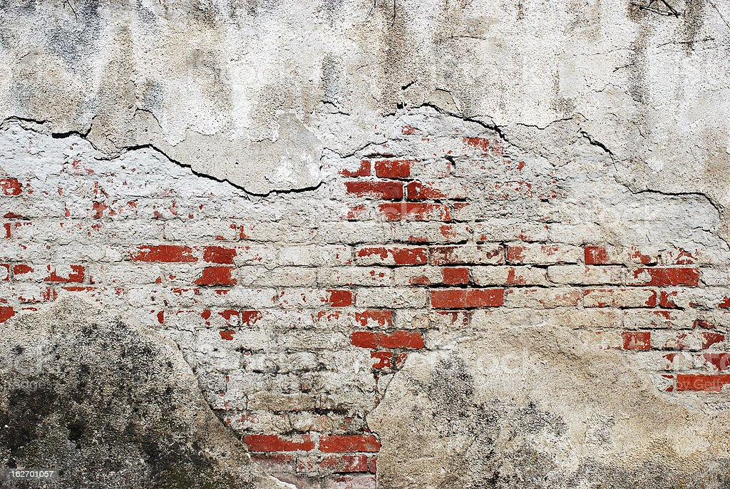 Old concrete and bricks grunge wall texture royalty-free stock photo