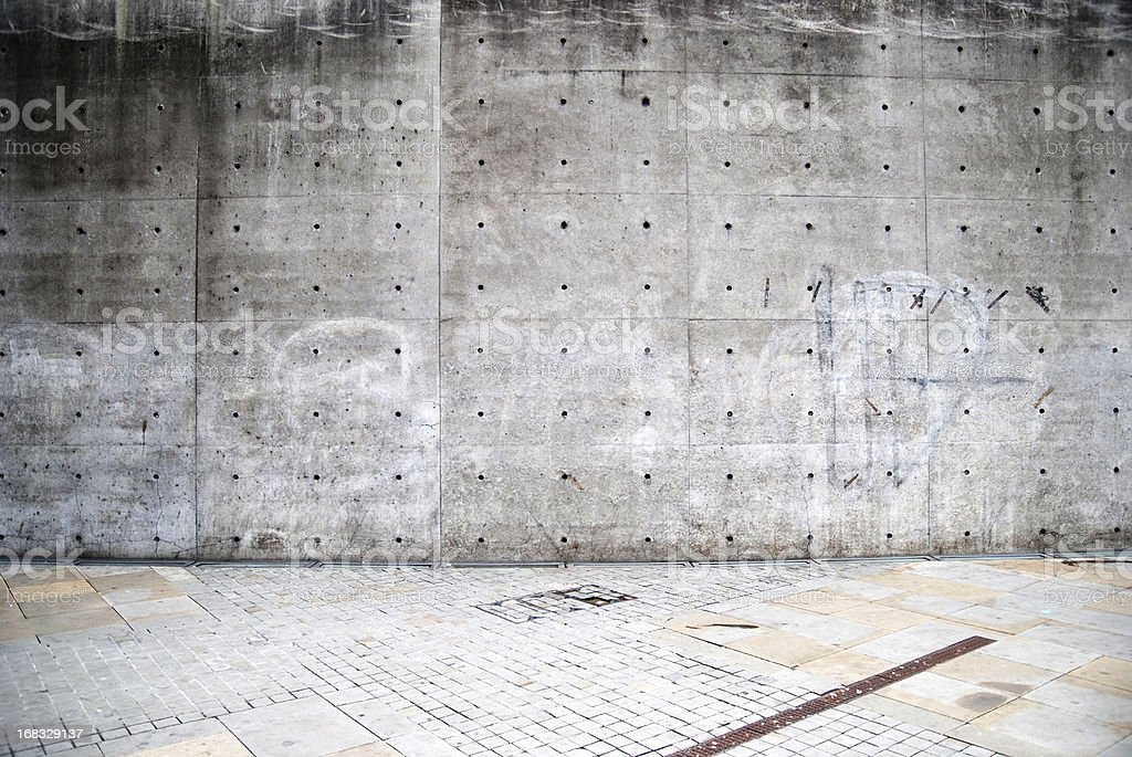 Old concrete grunge wall texture stock photo