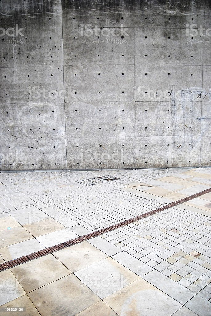 Old concrete grunge wall texture royalty-free stock photo
